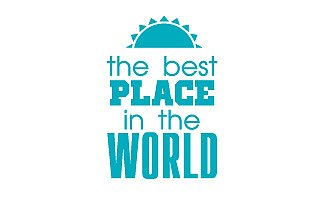 the best place is the world - Schild